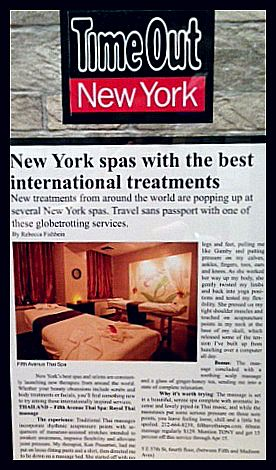 Time Out Magazine - New York Spa